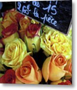 Paris Roses Metal Print by Kathy Yates