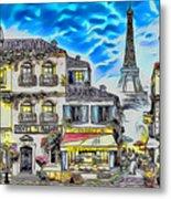 Paris Street Abstract 3 Metal Print