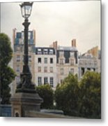 Paris Stroll Metal Print