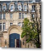 Paris Through Glass 1 Metal Print