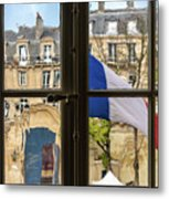 Paris Through Windows 2 Metal Print