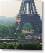 Paris Tour Eiffel 301 Pollution, Pollution Metal Print by Pascal POGGI