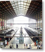 Paris Train Station Metal Print