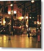 Paris Train Station At Night Metal Print