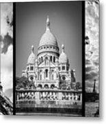 Paris Triptych Metal Print