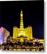 Paris Vegas Metal Print