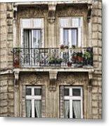 Paris Windows Metal Print