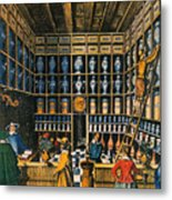 Parisian Pharmacy, 1624 Metal Print