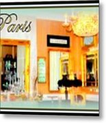 Parisian Salon Metal Print