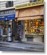 Parisian Shops Metal Print