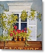 Parisian Window Metal Print