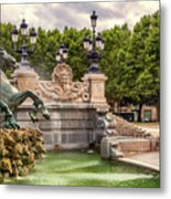 Park And Fountains Metal Print