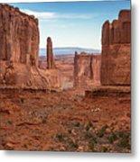 Park Avenue Arches National Park Metal Print