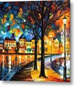 Park By The River Metal Print