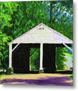 Park Covered Bridge Metal Print