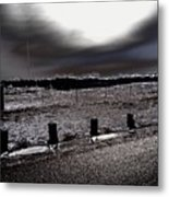 Park In The Moonlight Metal Print