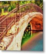Park Walk Bridge Metal Print