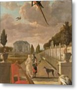 Park With Country House, Jan Weenix, 1670 - 1719 Metal Print