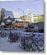 Parked Bikes In Dumbo Metal Print