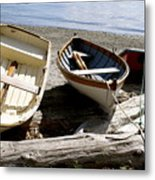 Parked Boats Metal Print