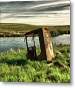 Parked By The Pond Metal Print