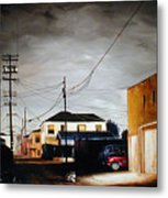 Parked In The Light Metal Print