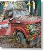 Parked On A Country Road Watercolors Painting Metal Print