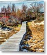 Parker River Nwr Boardwalk Metal Print