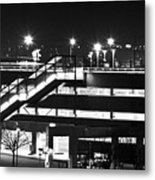 Parking Garage At Night Metal Print