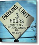 Parking Limits Metal Print