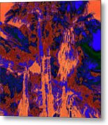 Parking Lot Palms 1 18 Metal Print