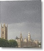 Parliament Blizzard  Metal Print