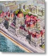Parliment Of Hungary Metal Print