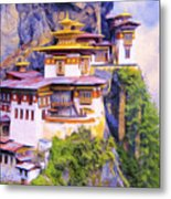 Paro Taktsang Monastery Bhutan Metal Print