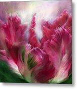 Parrot Tulip 2 Metal Print