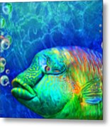 Parrotfish - Rainbow Spirit Metal Print