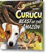 Parson Russell Terrier Art Canvas Print - Curucu  Movie Poster Metal Print