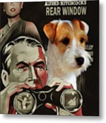 Parson Russell Terrier Art Canvas Print - Rear Window Movie Poster Metal Print