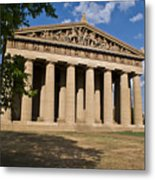 Parthenon Nashville Tennessee From The Shade Metal Print