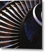 Partial View Of Jet Engine Metal Print