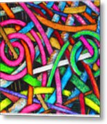 Particle Track Forty-one Metal Print