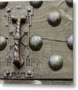 Particular Of The Door  Of A Castle With Its Clapper Metal Print