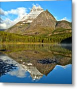 Partly Cloudy Fishercap Reflections Metal Print