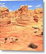 Partly Cloudy Over Coyote South Metal Print