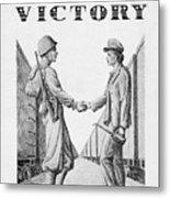 Partners In Victory Metal Print