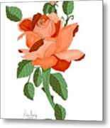 Party Colored Rose Metal Print