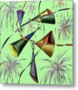 Party Hat Abstract  Metal Print
