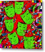 Party Of Seven Metal Print by Teddy Campagna