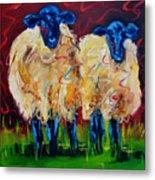 Party Sheep Metal Print