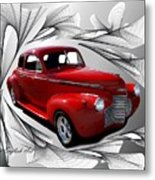 Party Time Red Metal Print